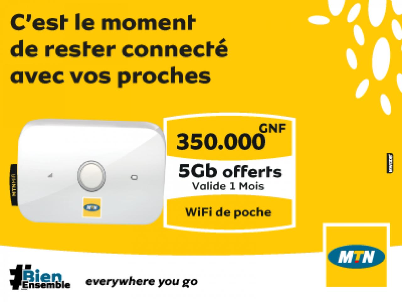 Wifi de poche, MTN Smartphone, Bissau