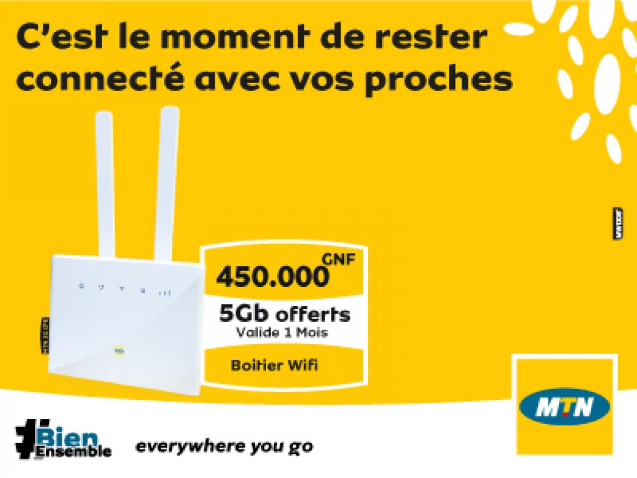 Boitier Wifi CPE, MTN Smartphone, Bissau